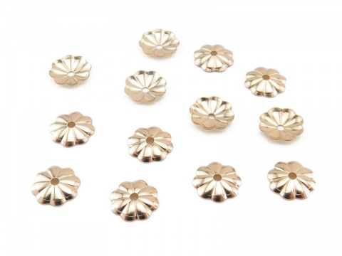 Gold Filled Flower Bead Cap 6mm