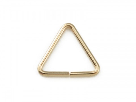 Gold Filled Open Triangle Component 10mm