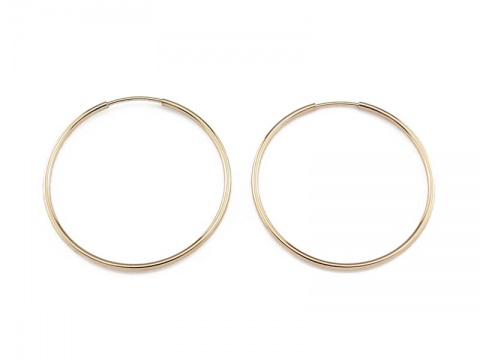 Gold Filled Earring Hoop 30mm ~ PAIR