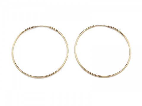 Gold Filled Earring Hoop 38mm ~ PAIR