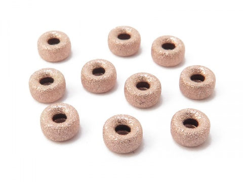 Rose Gold Filled Stardust Rondelle Bead 4mm