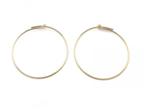 Gold Filled Beading Hoop 25mm ~ PAIR
