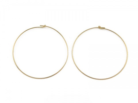 Gold Filled Beading Hoop 45mm ~ PAIR