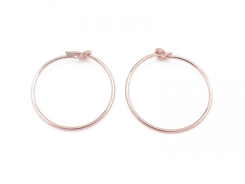 Rose Gold Filled Beading Hoop 15mm ~ PAIR