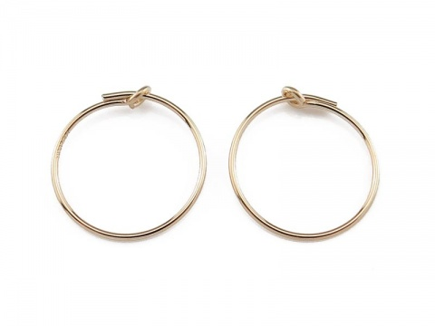Gold Filled Beading Hoop 15mm ~ PAIR