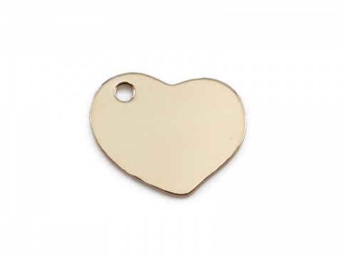 Gold Filled Heart Tag 9mm