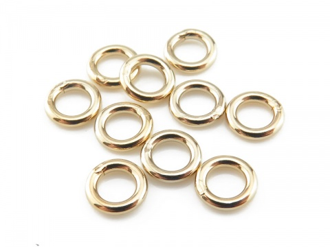 Gold Filled Closed Jump Ring 5mm ~ 18ga ~ Pack of 10