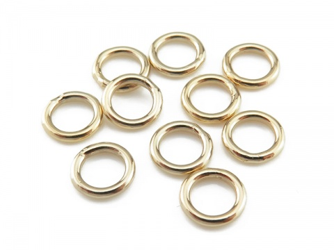 Gold Filled Closed Jump Ring 6mm ~ 18ga ~ Pack of 10