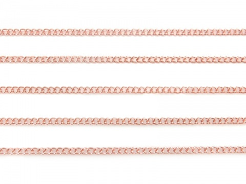 Rose Gold Filled Curb Chain 2mm x 1.5mm ~ by the Foot