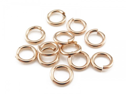Gold Filled Open Jump Ring 6mm ~ 18ga ~ Pack of 10
