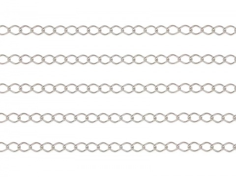 Sterling Silver Curb Chain 2.5 x 1.7mm ~ Offcuts