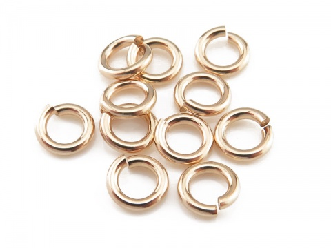 Gold Filled Open Jump Ring 5mm ~ 18ga ~ Pack of 10