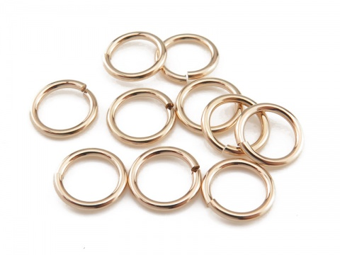 Gold Filled Open Jump Ring 8mm ~ 18ga