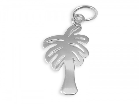Sterling Silver Palm Tree Pendant 23mm