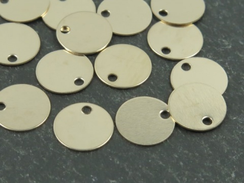 Gold Filled Round Tag/Disc 7mm