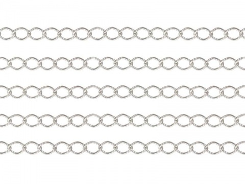 Sterling Silver Curb Chain 3 x 2.25mm ~ Offcuts