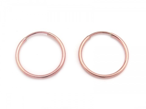 Rose Gold Filled Earring Hoop 16mm ~ PAIR