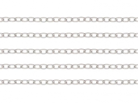 Sterling Silver Cable Chain 2 x 1.5mm ~ by the Foot