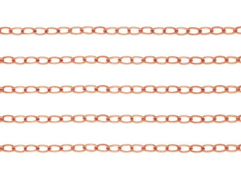 Rose Gold Filled Flat Cable Chain 1.8mm x 1.3mm ~ Offcuts