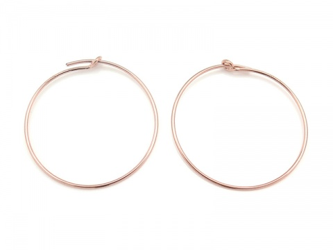 Rose Gold Filled Beading Hoop 25mm ~ PAIR