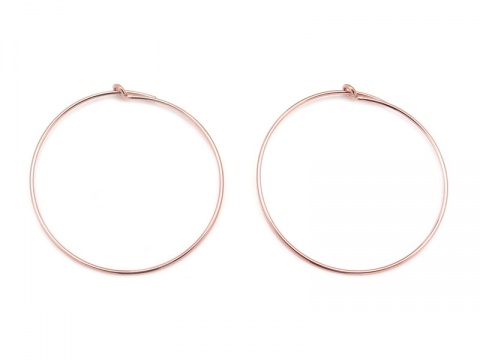 Rose Gold Filled Beading Hoop 30mm ~ PAIR