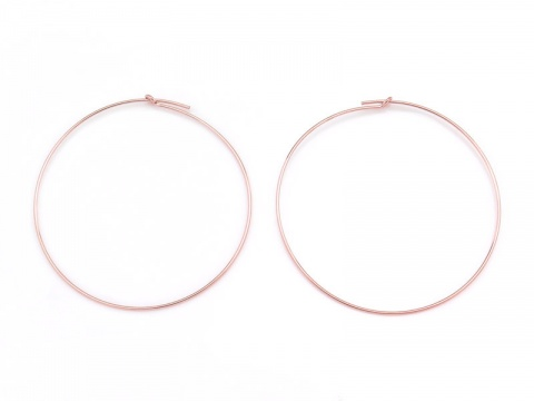 Rose Gold Filled Beading Hoop 45mm ~ PAIR