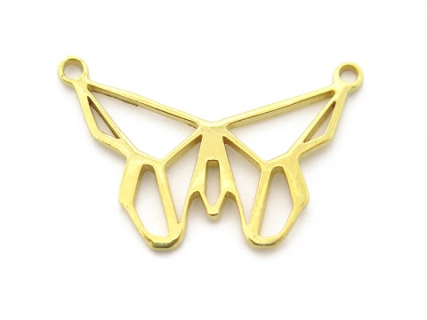 Gold Vermeil Origami Butterfly Connector 21mm