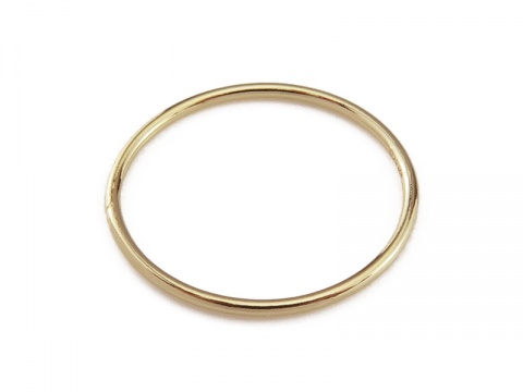 Gold Filled Stacking Ring 15mm ~ Size D
