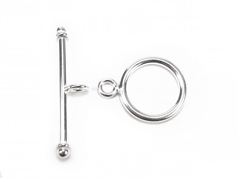 Sterling Silver Toggle and Bar Clasp 16mm