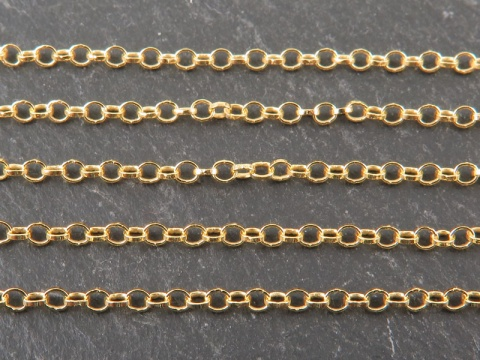 Gold Vermeil Belcher Chain 2mm ~ by the Foot