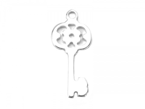 Sterling Silver Key Charm 21mm