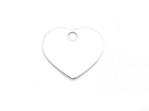 Sterling Silver Heart Charm 7mm