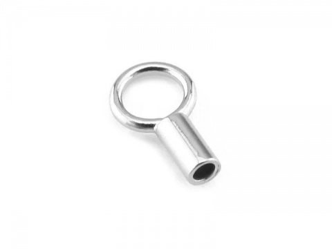 Sterling Silver End Cap 1mm ID