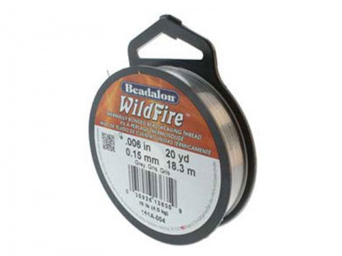 Beadalon Wildfire 0.006'' (0.15mm) - Grey - 18 metres