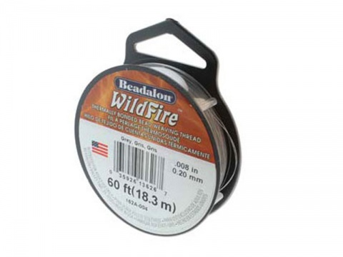 Beadalon Wildfire 0.008'' (0.20mm) - Grey - 18 metres