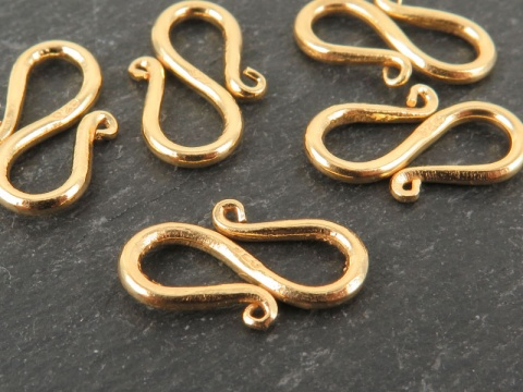 Gold Vermeil S-Hook Clasp 15mm