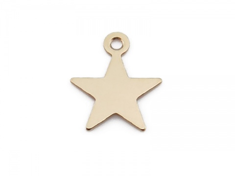 Gold Filled Star Charm 10mm