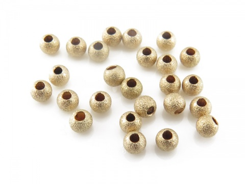 Gold Filled Frosted Bead 2mm ~ Pack of 10