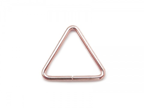 Rose Gold Filled Open Triangle Component 10mm