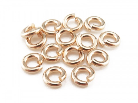 Gold Filled Open Jump Ring 5mm ~ 16ga ~ Pack of 10
