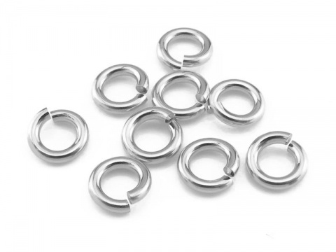 Sterling Silver Open Jump Ring 5mm ~ 16ga ~ Pack of 10