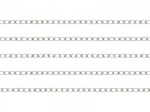 Sterling Silver Flat Cable Chain 1.8mm x 1.3mm ~ Offcuts