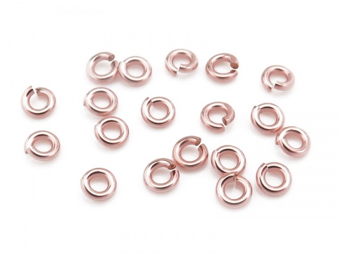 Rose Gold Filled Open Jump Ring 3mm ~ 20ga ~ Pack of 20