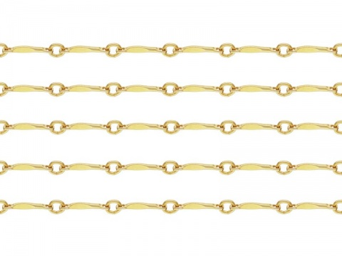 Gold Filled Twisted Bar Chain ~ Offcuts