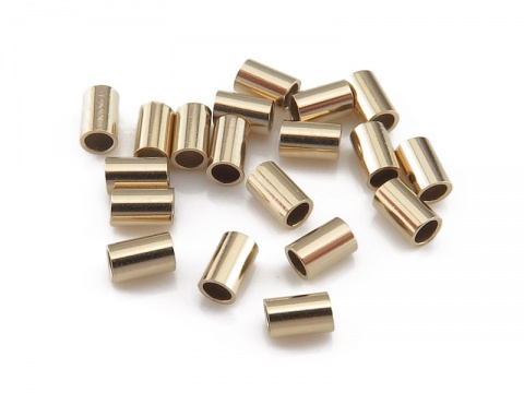 Gold Filled Crimp 2mm x 3mm ~ Pack of 20