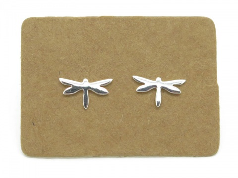 Sterling Silver Dragonfly Ear Studs ~ PAIR