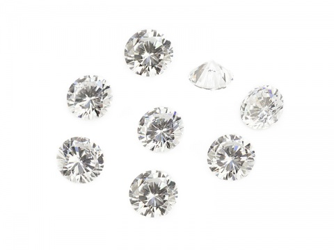 Cubic Zirconia Round ~ Brilliant White ~ Various Sizes