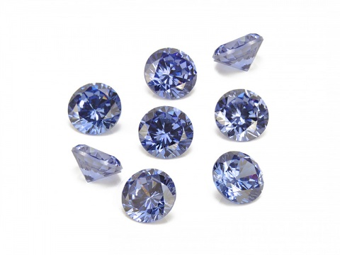 Cubic Zirconia Round ~ Tanzanite ~ Various Sizes