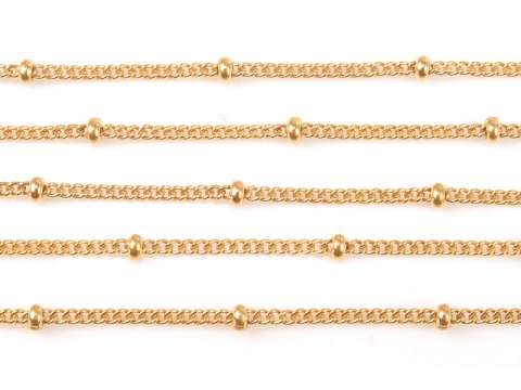 Gold Filled Satellite Chain 1.5 x 1.2mm (16mm ball spacing) ~ by the Foot