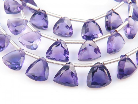 AA+ Amethyst Faceted Trilliant Briolettes 7mm